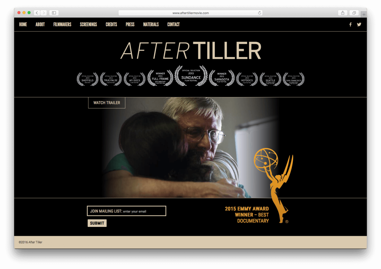 After Tiller Homepage