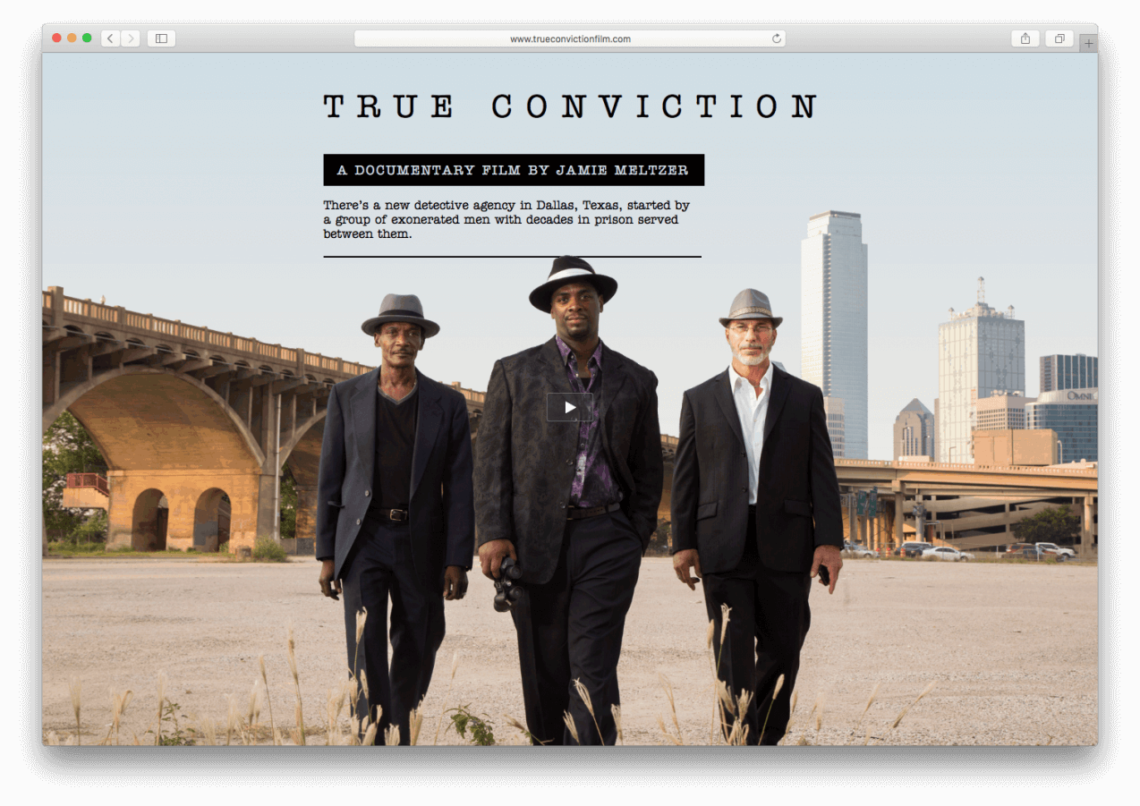 True Conviction homepage