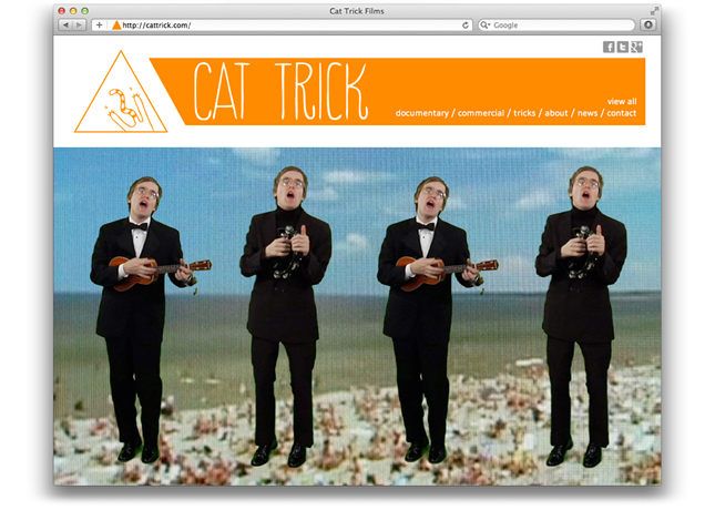 Cat Trick homepage splash