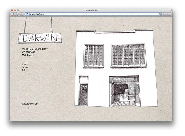 Darwin Cafe homepage